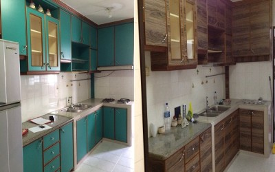 Adhesive Laminates – Woodlands Avenue 4 HDB Kitchen