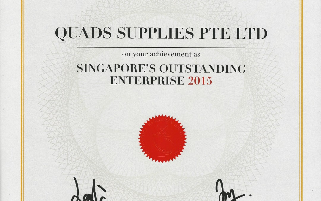 Singapore Outstanding's Enterprise 2015 Award