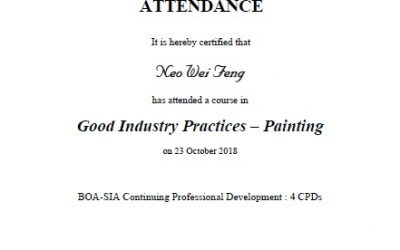 BCA Good Industry Practise – Painting
