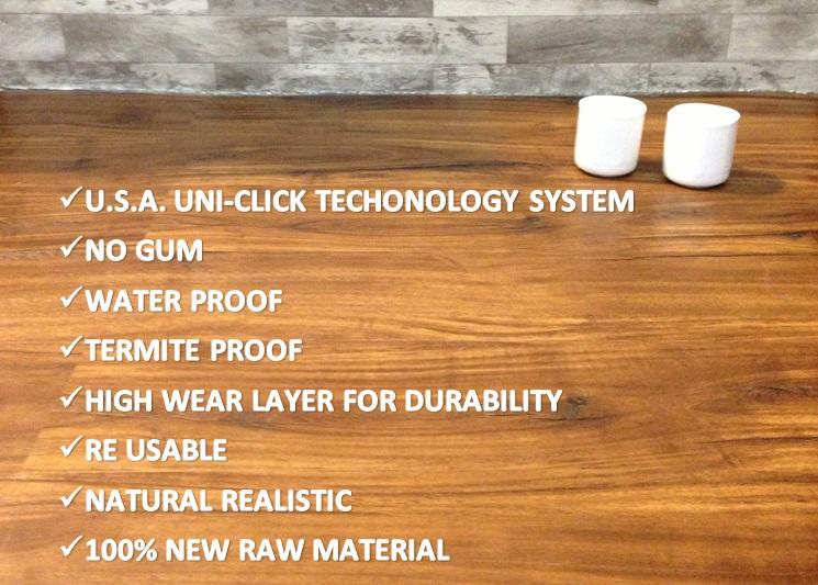Characteristics Of Quads Versatile (PVC UniClick) Tiles