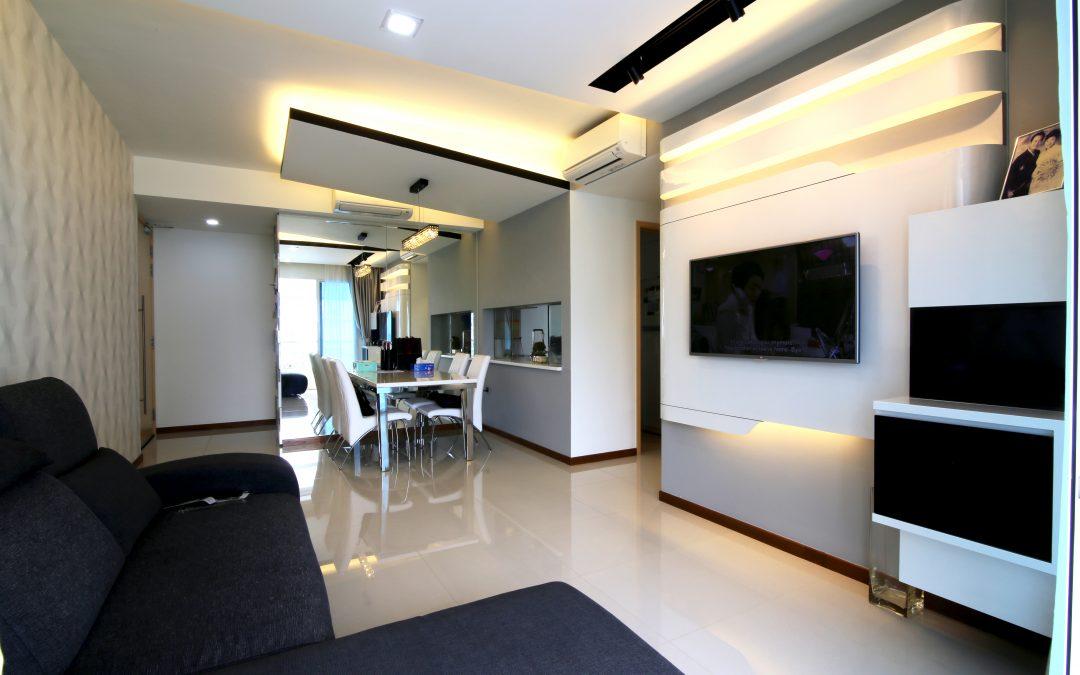 Homogeneous Flooring-Waterview Condo,Tampines