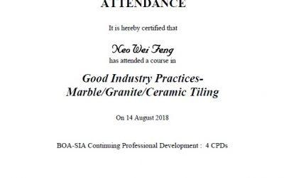 BCA Good Industry Practise – Marble, Granite, Ceramic Flooring