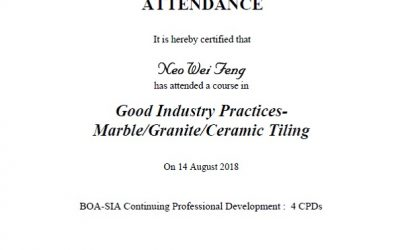 BCA Good Industry Practise – Marble/Granite/Ceramic Tiling