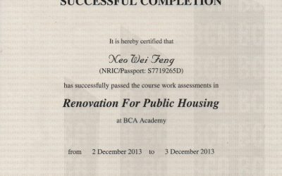 BCA Renovation For Public Housing